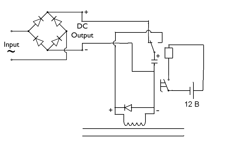 Схема гаусса на тиристоре